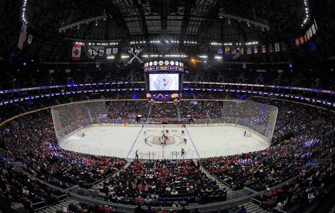 It's uncertain if the Sabres will be playing Friday night in KeyBank Center (Harry Scull Jr./Buffalo News)