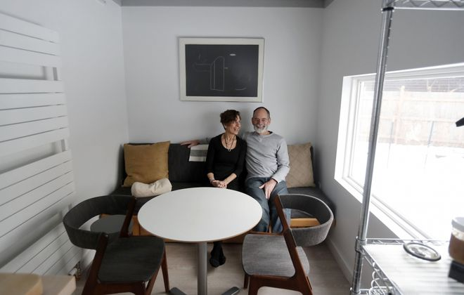 Donna Stepien and Ignacio Villa at their home in Buffalo.       (Mark Mulville/Buffalo News)