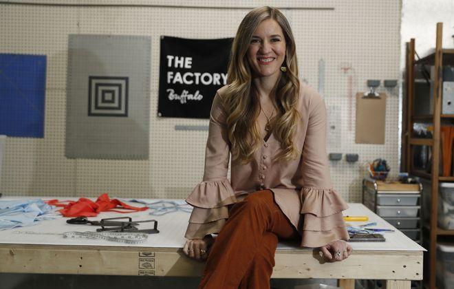 Molly Worth, at the Factory Buffalo. (Sharon Cantillon/Buffalo News)