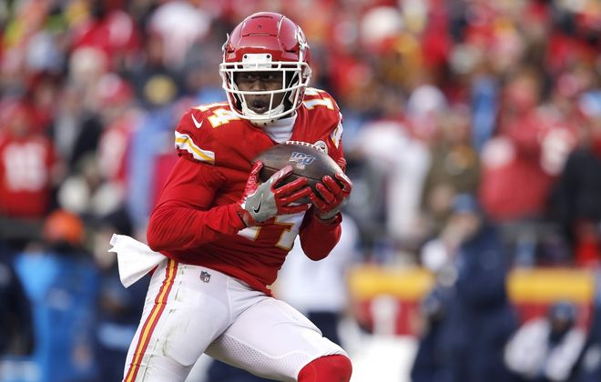 Sammy Watkins and the Kansas City Chiefs are headed to the Super Bowl. (David Eulitt/Getty Images file photo)