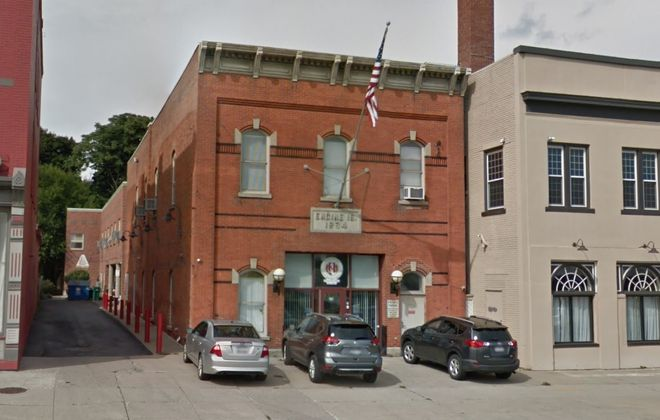 The Western New York Veterans Housing Coalition wants the Preservation Board to landmark its building at 1416 Main St., the former Engine No. 16 firehouse. (Google)