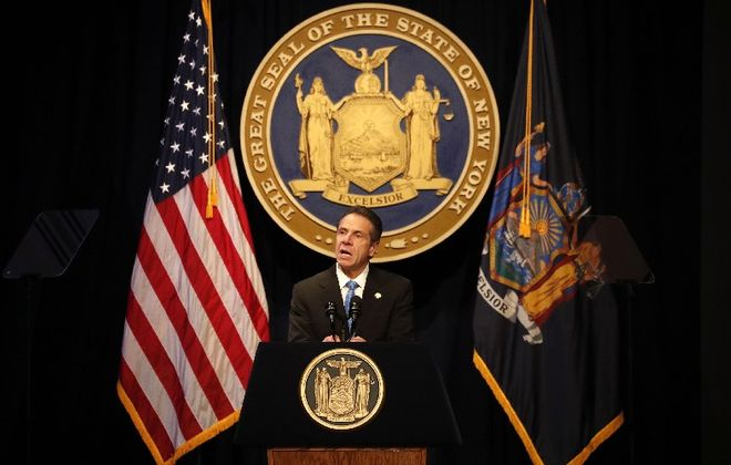 Gov. Andrew M. Cuomo delivers his 10th State of the State address in Albany on Wednesday. (Mark Mulville/Buffalo News)