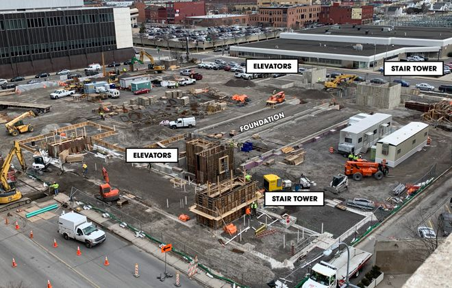 A look at the progress at 201 Ellicott St. (Courtesy of Ciminelli Real Estate Corp.)