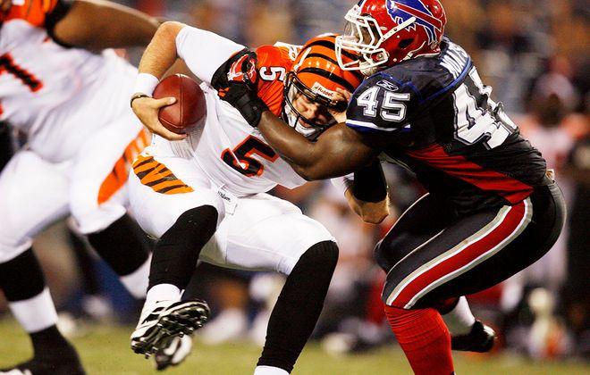 Jordan Palmer, during his days as a Cincinnati Bengals quarterback.(James P. McCoy/News file photo)