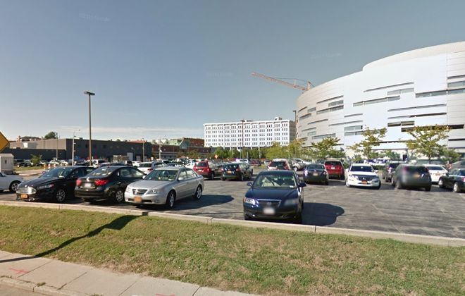 Uniland Development Co. is seeking to buy this parking lot from the city. (Google)