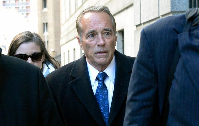Former Rep. Chris Collins arrives at Federal District Court in Manhattan to be sentenced on charges of insider trading on Jan. 17, 2020. (Jefferson Siegel/Special to The News)