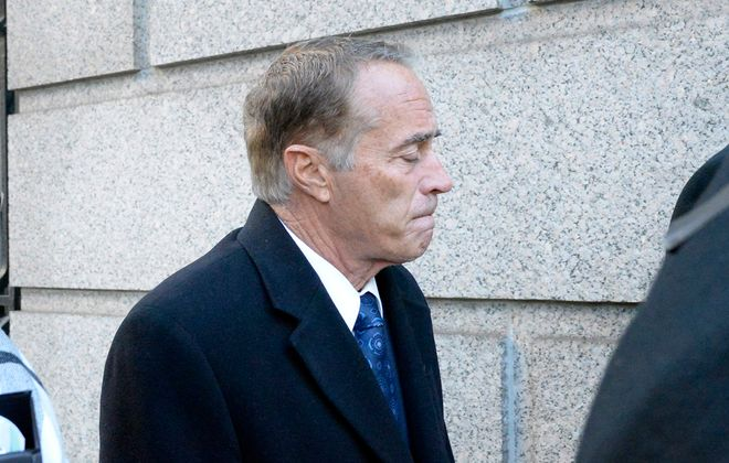 Former Rep. Chris Collins arrives at Federal District Court in Manhattan to be sentenced on charges of insider trading. (Jefferson Siegel/Special to The News)