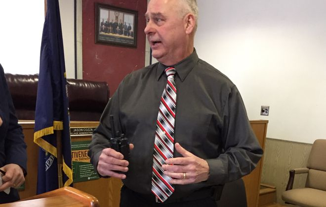 Hamburg Village Police Chief Michael Melisz says new radios will improve communications with other first responders. (Barbara O'Brien/Buffalo News)