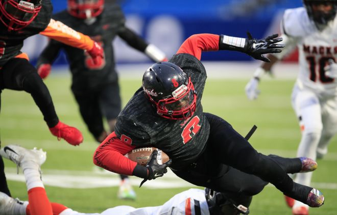 Buffalo's South Park and McKinley high schools battled for the Section VI Class A championship last fall. Critics think such success on the part of city schools was behind a plan – delayed this week – that would have left them out of leagues competing with suburban teams. (Harry Scull Jr./News file photo)