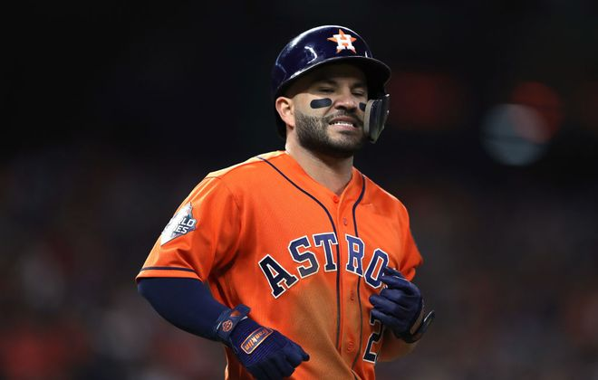 The cheating scandal will dog Jose Altuve and the Astros all spring and all summer. (Getty Images)