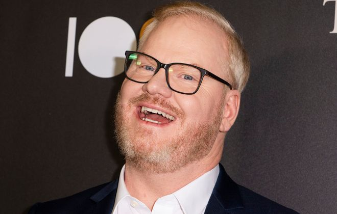 Comedian Jim Gaffigan and his self-deprecatory humor will be on display this Sunday. (Getty Images)