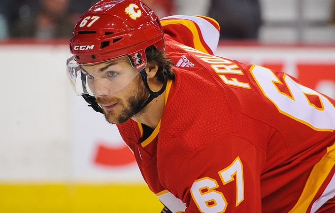 Michael Frolik has five goals among 10 points in 38 games this season. (Getty Images)