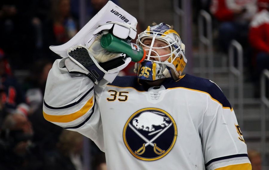 Buffalo Sabres goalie Linus Ullmark. (Getty Images)