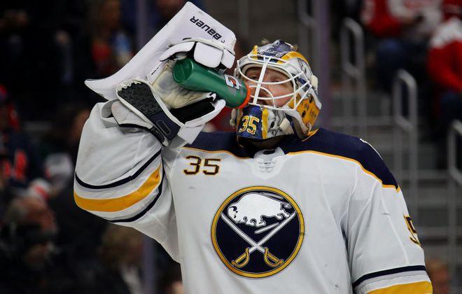 Buffalo Sabres goalie Linus Ullmark. (Getty Images)