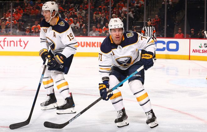 Buffalo Sabres forward Evan Rodrigues. (Getty Images)