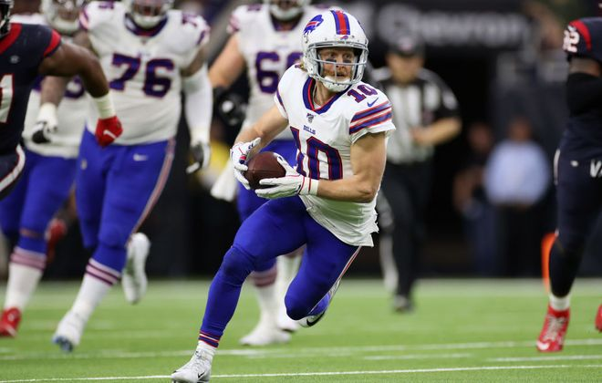 Buffalo's Cole Beasley carries the ball against the Houston Texans at NRG Stadium on Jan. 4 in Houston, Texas. (Getty Images file photo)