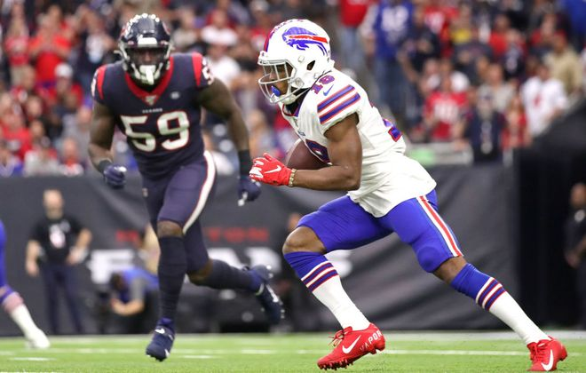 Bills wide receiver Isaiah McKenzie turned down other offers to return to Buffalo. (Getty Images)