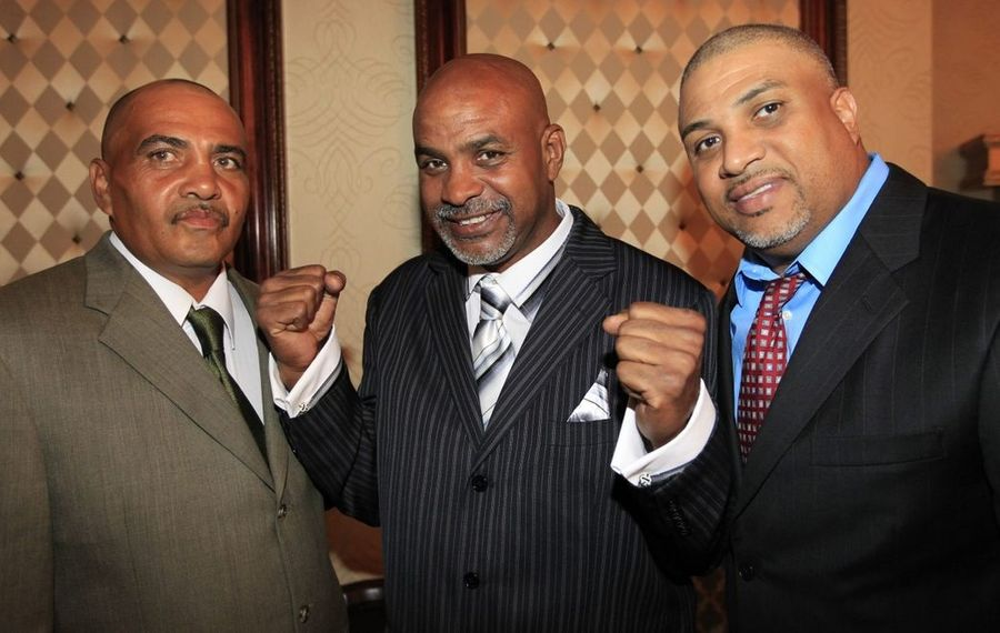 The De Leon brothers Angel, Carlos and Juan were inducted together into the Ring 44 Hall of Fame in 2014. Carlos died at age 60 Wednesday. (Buffalo News file photo)