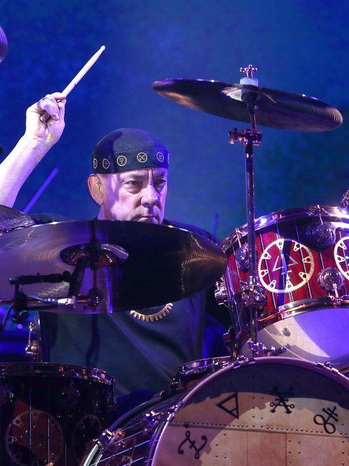 Neil Peart performs his  band Rush at then-First Niagara Center in Buffalo in 2012.  (Robert Kirkham / Buffalo News file photo)