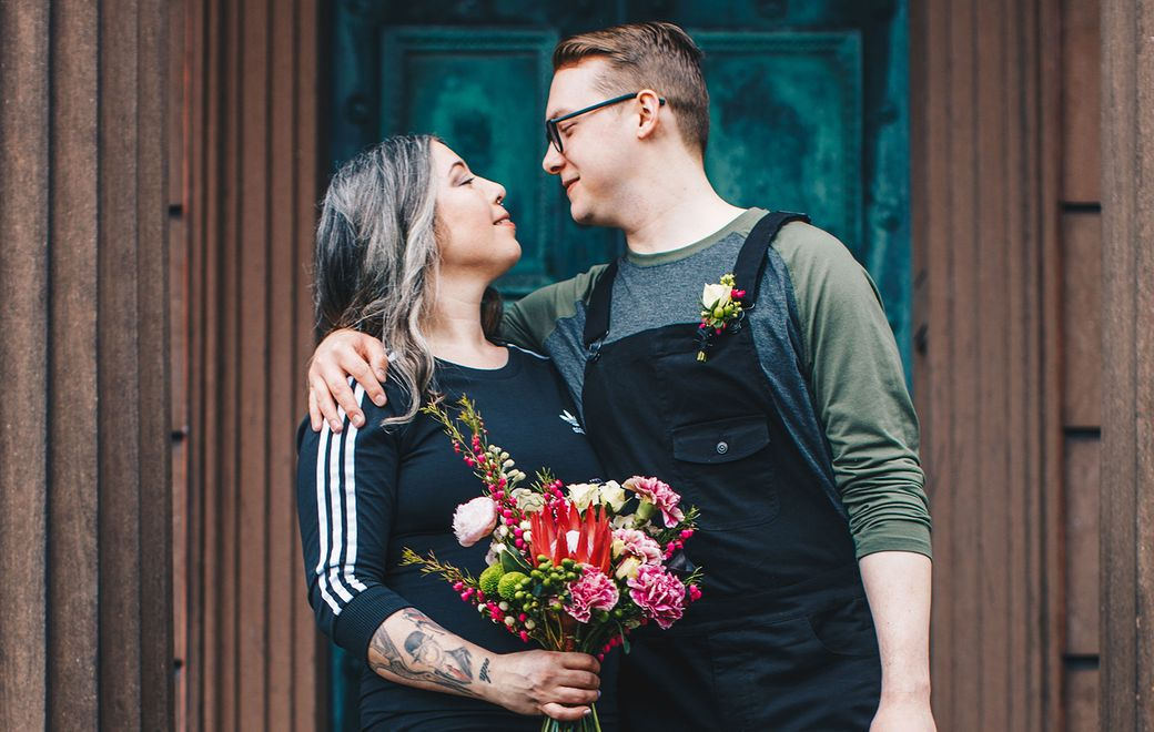 """The couple's """"less is more"""" sentiment automatically gave the occasion a more relaxed vibe. (Alana Adetola Arts Photography)"""