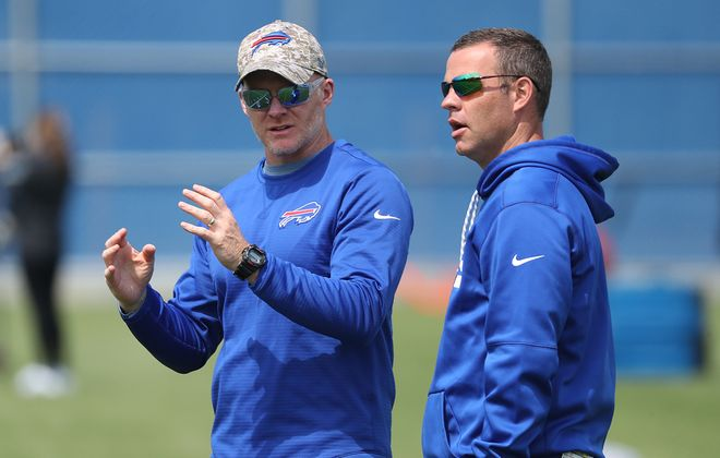 Bills coach Sean McDermott and General Manager Brandon Beane have built a team that is favored to win the AFC East. (James P. McCoy/News file photo)