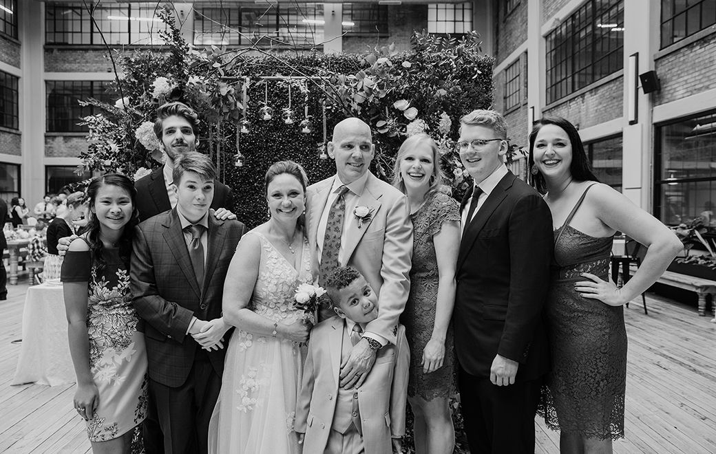 After a decade together and their family grown to seven children, Melissa & Paul wanted to celebrate their union with everyone. (Moonshine Studio of Photography)