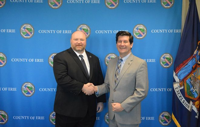 County Executive Mark Poloncarz appoints former Lackawanna Mayor Geoffrey Szymanski as new director of Erie County Workforce Development. (Photo courtesy of Erie County)