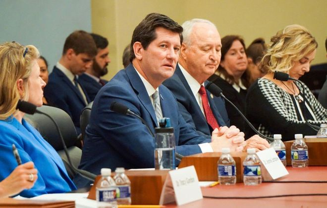 Erie County Executive Mark C. Poloncarz testified Wednesday before the House Budget Committee in Washington, D.C. (Photo courtesy of the National Association of Counties)