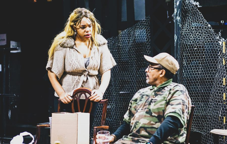 """Aqueira Oshu and Andy Finley star in """"Jump,"""" presented by Paul Robeson Theatre. (Photo courtesy of Marcus T. Thompson Jr.)"""