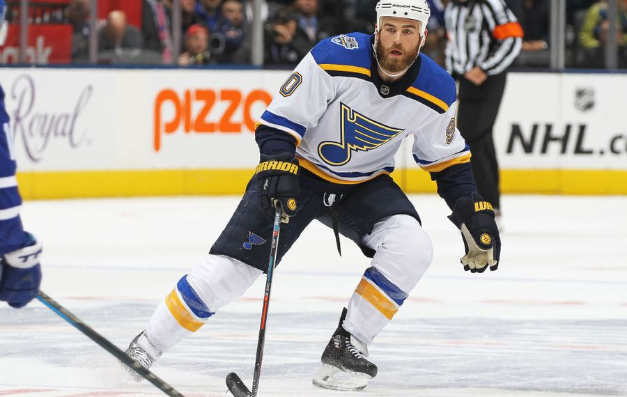 Ryan O'Reilly entered Thursday's game as the St. Louis Blues' leader in assists with 31. (Getty Images)