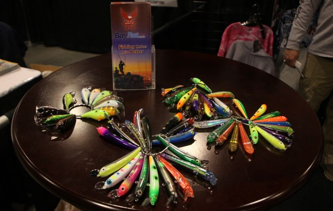 There are plenty of lures available at this year's Fishing Expo to fill your tackle box. (Bill Hilts, Jr./Buffalo News)