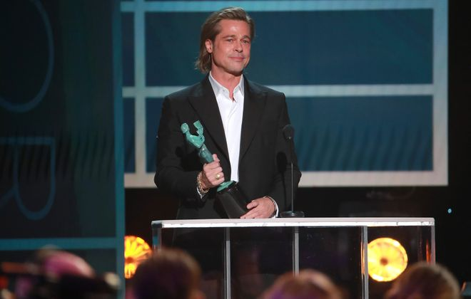 """Jeff Simon writes that Brad Pitt """"has – quite importantly – been one of Hollywood's most significant film producers for some time."""" (Photo by Rich Fury/Getty Images)"""