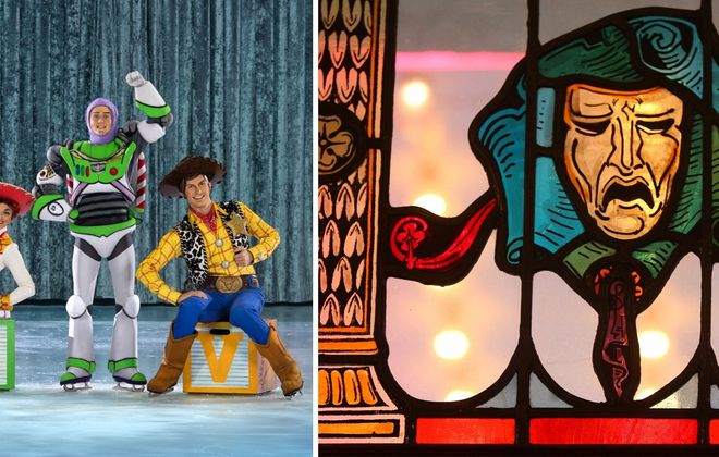From Disney On Ice, left, to a stained glass presentation at the Buffalo History Museum, there's a solid array of events for this week. (Photo courtesy of Disney On Ice; Mark Mulville/News file photo)