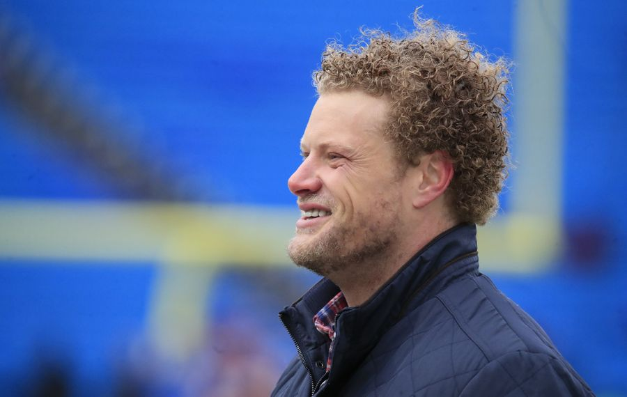 "Eric Wood's addition to the Buffalo Bills radio broadcast team earned Alan Pergament's ""Best Trade of the Year"" in local media. (Harry Scull Jr./Buffalo News)"