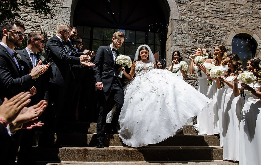 Matt and Allina wed in a 1 p.m. ceremony in the Alumni Chapel at Niagara University, where they both graduated. (Vita Bella Photography)