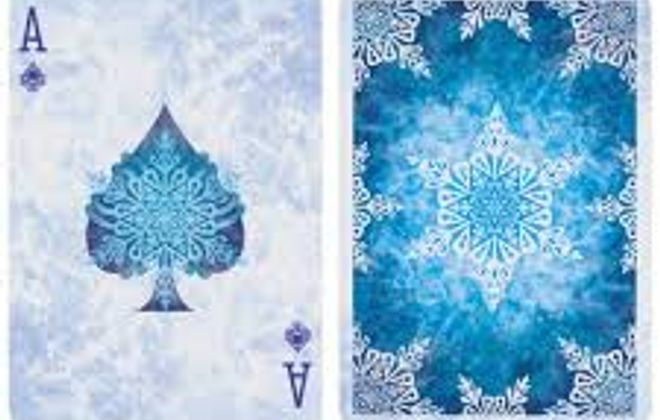 Frost playing cards by Bicycle.