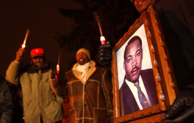 Commemorations across Western New York honor the legacy of the Rev. Martin Luther King Jr. on the federal holiday created in his honor, but some local municipalities still don't recognize the day as a holiday. (Derek Gee/News file photo)