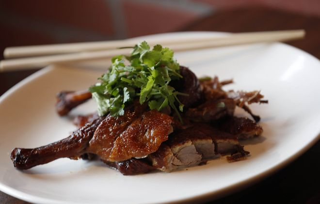House of Gourmet serves smoked tea duck Sichuan style. (Sharon Cantillon/Buffalo News)
