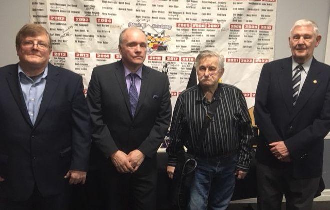 FOAR Score Hall of Fame class-left to right: Bill Eschborn, Karl Hehr, Frank Batista Sr. Ted Renshaw.