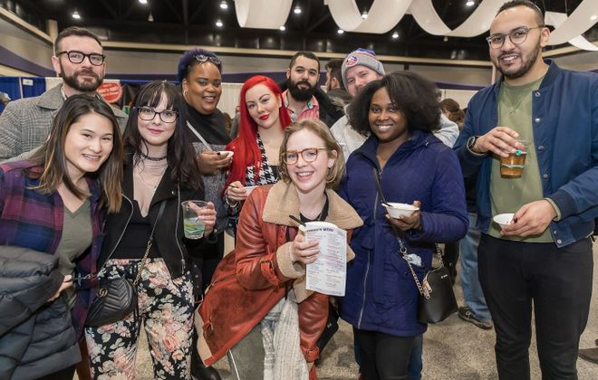 Patrons smile at the 2019 Buffalo Soup-Fest, which returns Jan. 26 for a 10th year. (Don Nieman/Special to The News)