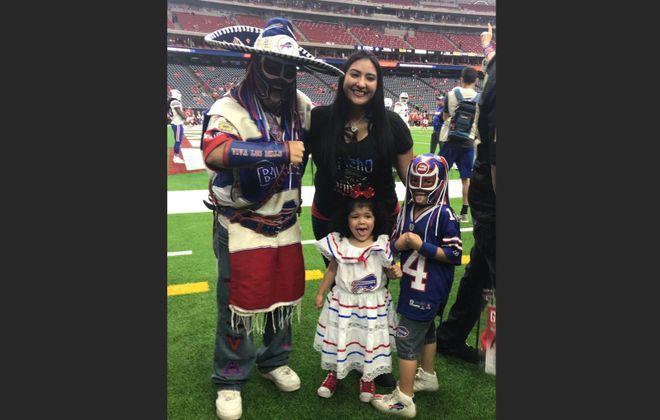 Veronica Borjon and Ezra Castro with their two children.