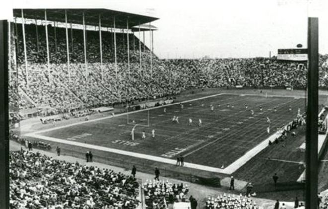 War Memorial Stadium, where Tony Green started playing for the Bills.  (Buffalo News archives)
