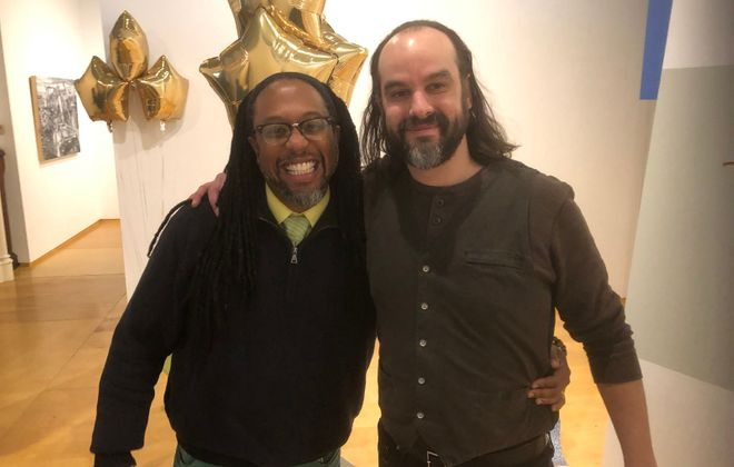 Walter Kemp of the Historic Colored Musicians Club and Steve Baczkowski of Hallwalls Contemporary Art Center will act as co-directors of musical content under the new .9 Miles Collaborative.  (Jeff Miers/Buffalo News)