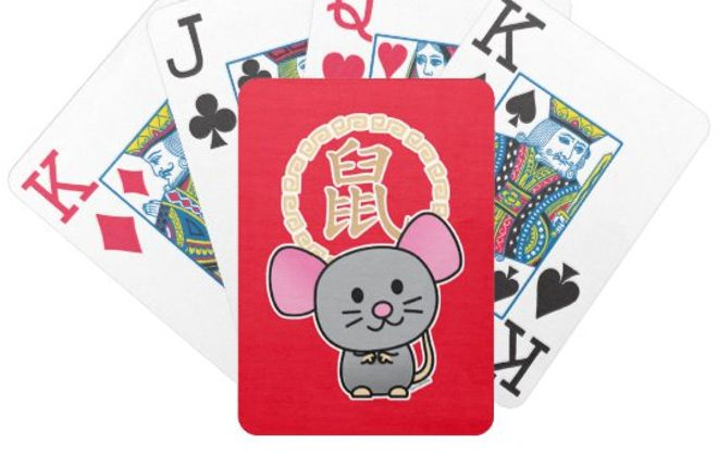 Chinese Year of the Rat playing cards by Bicycle.
