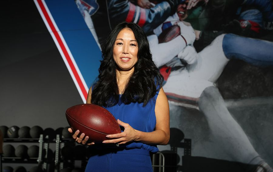 Pegula Sports & Entertainment president and CEO Kim Pegula talked with The News about the paycuts, layoffs and furloughs at PSE. (James P. McCoy/News file photo)