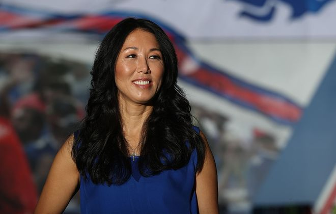 Kim Pegula at the ADPRO Sports Training Center  in Orchard Park in 2019. (James P. McCoy/News file photo)