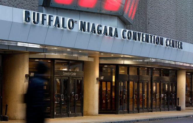 The Buffalo Niagara Convention Center, pictured on Monday, Dec. 2, 2019. (Derek Gee/Buffalo News)