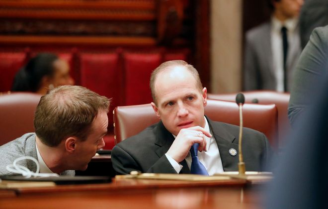 State Sen. Tim Kennedy in the chambers at the State Capitol building in Albany  (Mark Mulville/News file photo)