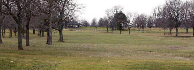 The 18th hole at the Amherst Audubon Golf Course. (Derek Gee/Buffalo News)
