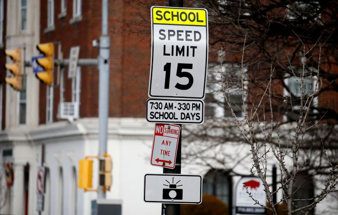 Lower speed zones around Buffalo schools should be in force in the morning and afternoon, but not midday. (Robert Kirkham/Buffalo News)